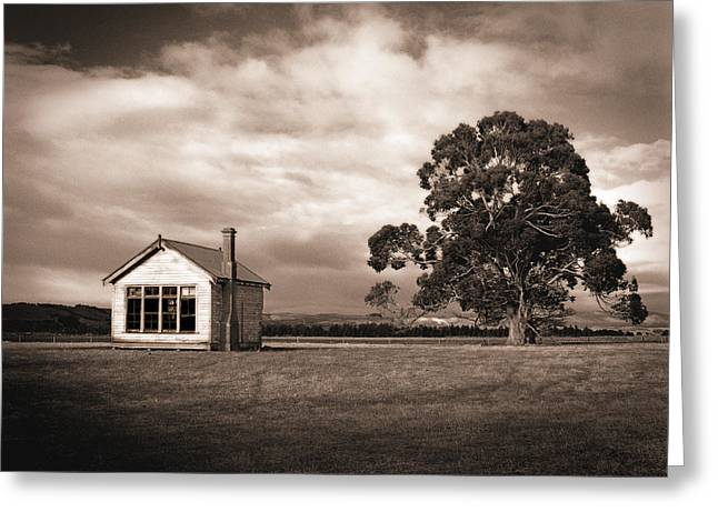Old School House, Otahu Flat, New Zealand Greeting Card by Maggie McCall
