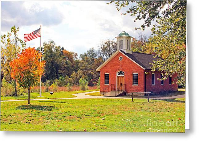 Schoolhouse Greeting Cards - Old Schoolhouse-Wildwood Park Greeting Card by Jack Schultz