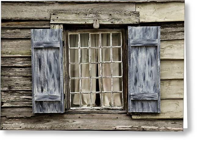 Old Schoolhouse Window Greeting Card by Frank Russell
