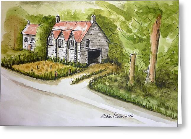 Old Scottish Stone Barn Greeting Card by Diane Palmer