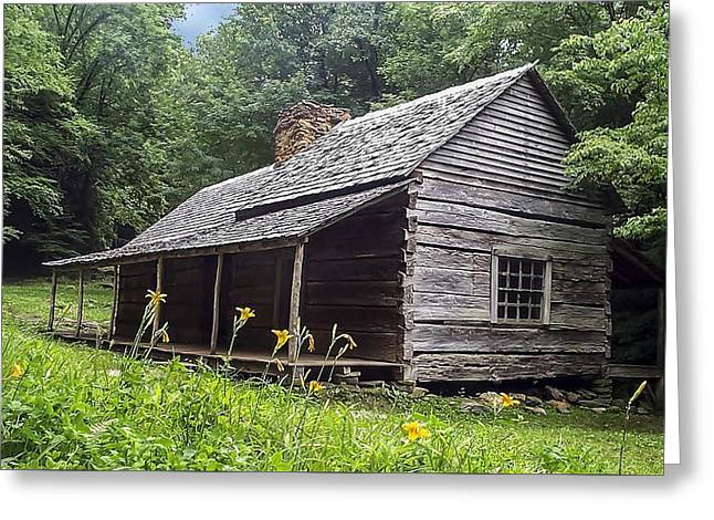 Old Settlers Cabin Smoky Mountains National Park Greeting Card