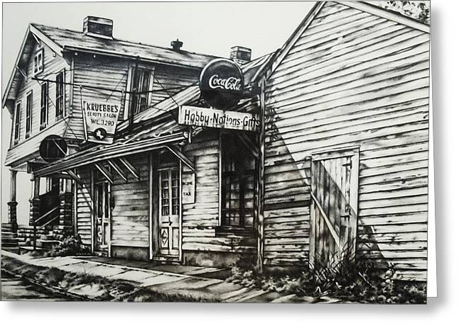 Old Shawneetown Greeting Card by Michael Lee Summers