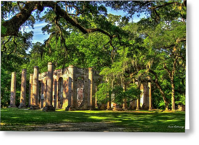 Old Sheldon Church Ruins South Carolina Art Greeting Card