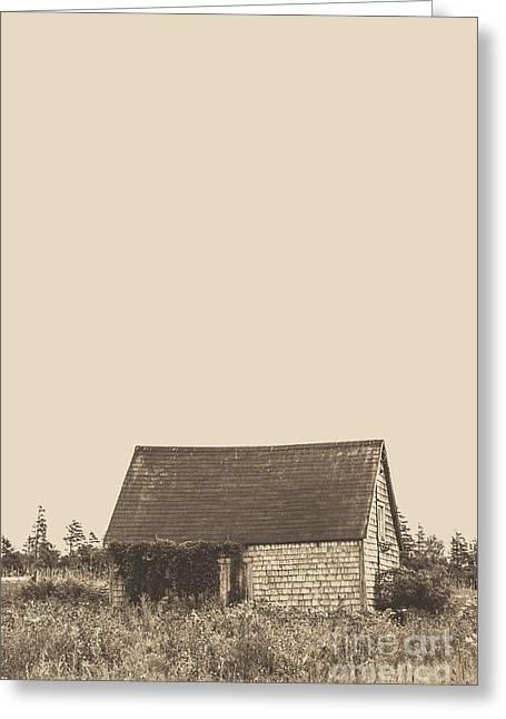Old Shingled Farm Shack Greeting Card by Edward Fielding