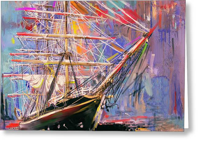 Old Ship 226 4 Greeting Card