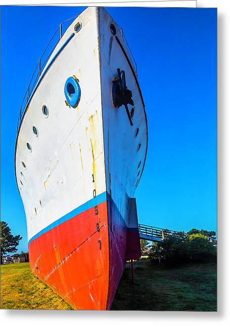 Old Ship Bow Greeting Card