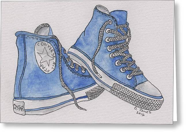 Old Shoe Greeting Card by Debbie Jones