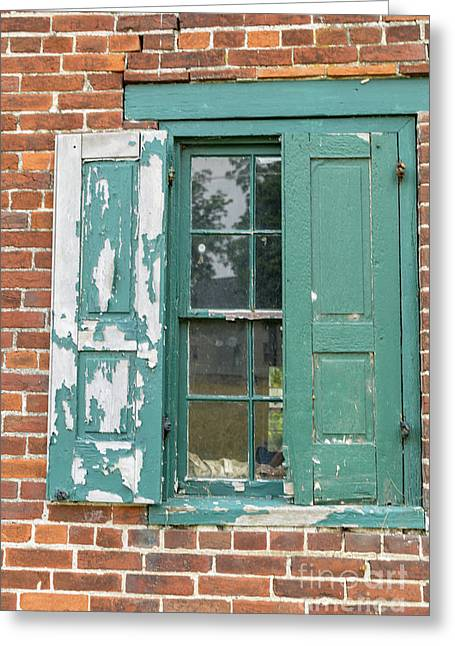 Old Shuttered Door Greeting Card