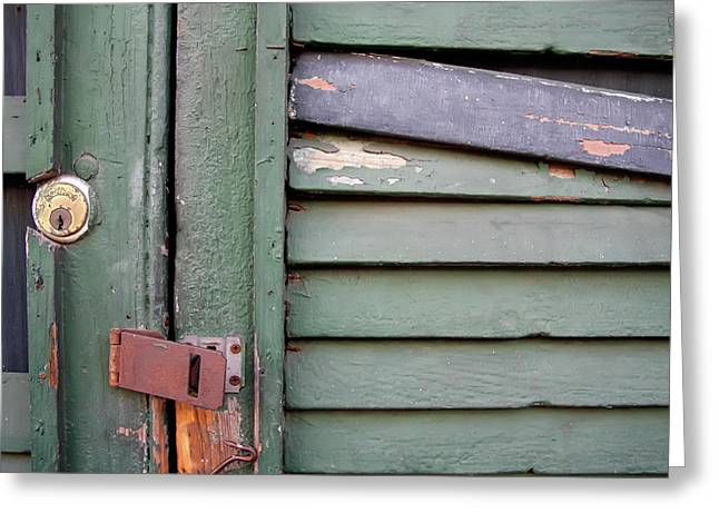 Greeting Card featuring the photograph Old Shutters French Quarter by KG Thienemann