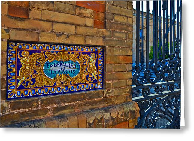 Old Sign Outside The Royal Tobacco Greeting Card by Panoramic Images