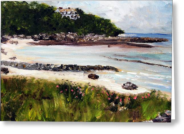 Old Silver Beach Falmouth Greeting Card