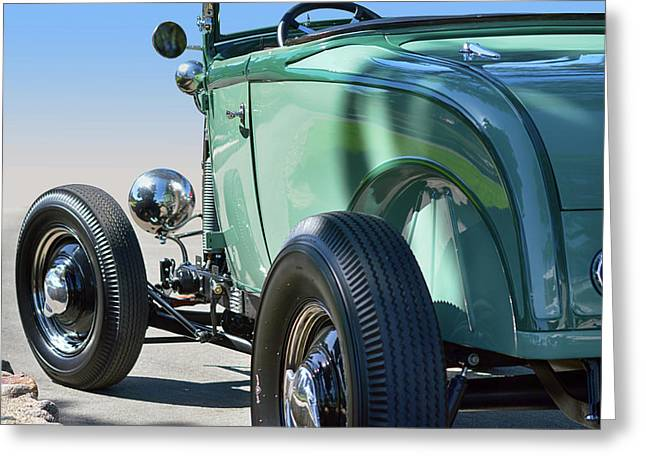 Greeting Card featuring the photograph Old Skool Green by Bill Dutting