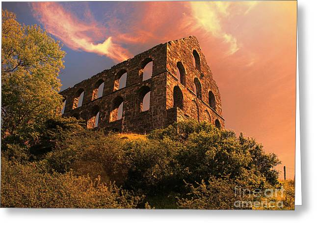 Old Slate Mill In Cwmystradllyn  Greeting Card by Chris Evans