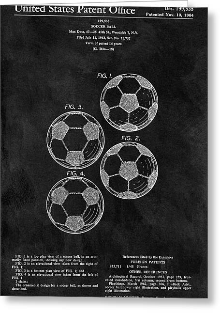 Old Soccer Ball Patent Greeting Card
