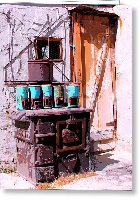 Old Stove Greeting Cards - Old Soldier Greeting Card by William Dey