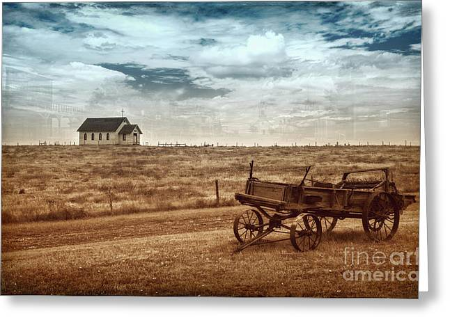 Greeting Card featuring the photograph Old South Dakota Town by Sharon Seaward