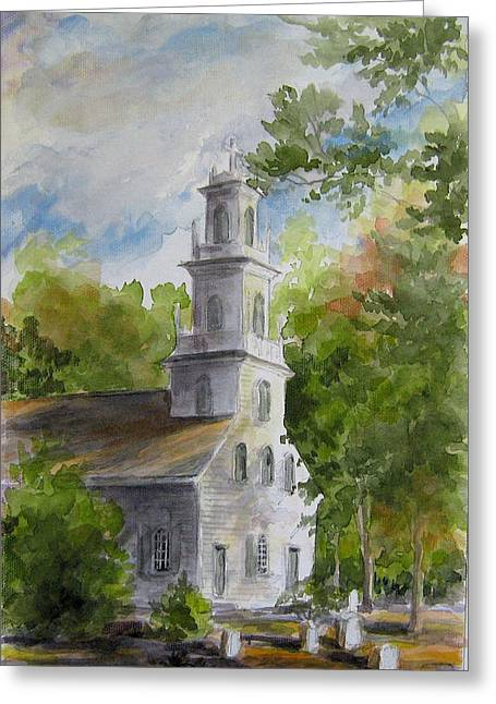 Old St. David's In The Fall Greeting Card