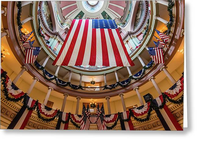 Old St. Louis Courthouse Rotunda Greeting Card by Morris Finkelstein