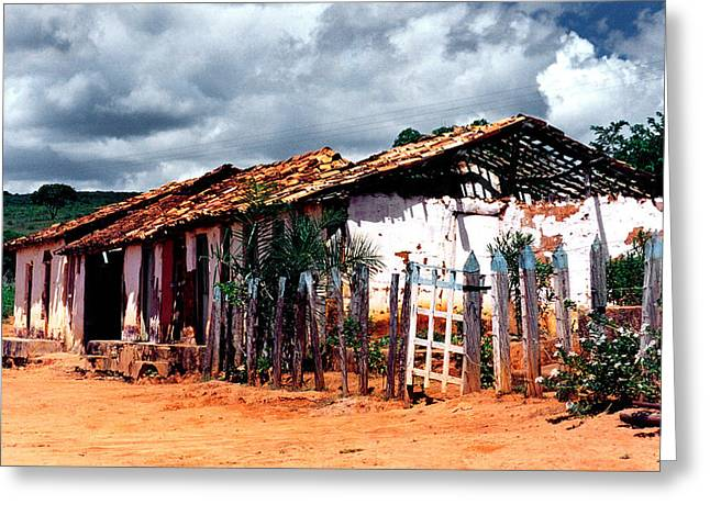 Old Stable Greeting Card by Amarildo Correa