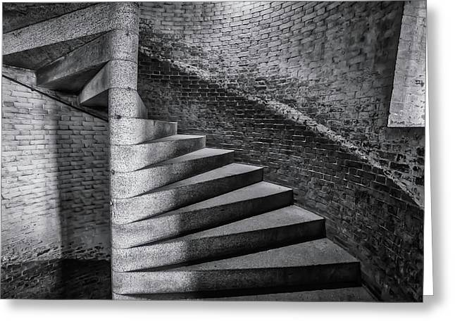 Old Stairs Ft Point  Greeting Card