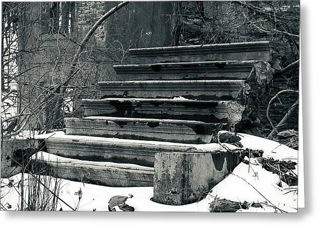 Old Stairs To Nowhere Greeting Card by Jeff Severson