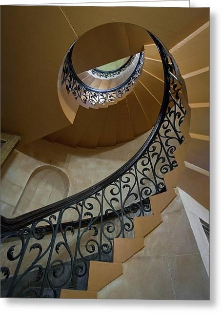 Old Stairway Greeting Card
