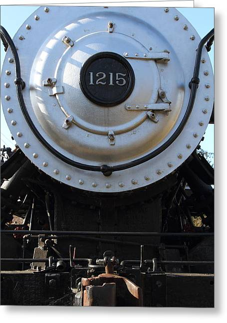 Wing Tong Photographs Greeting Cards - Old Steam Locomotive Engine 1215 . 7D12976 Greeting Card by Wingsdomain Art and Photography