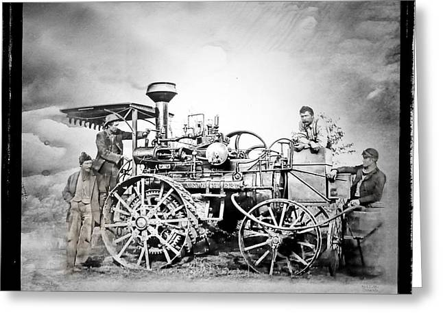 Old Steam Tractor Greeting Card by Mark Allen