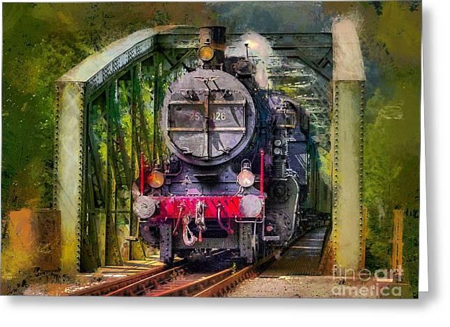 Old Steam Train Greeting Card