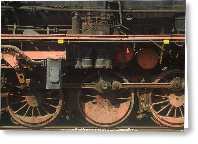 Old  Steam Train ...france Greeting Card by Pierre Van Dijk