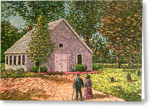 Old Stome Church Greeting Card by Frank Morrison
