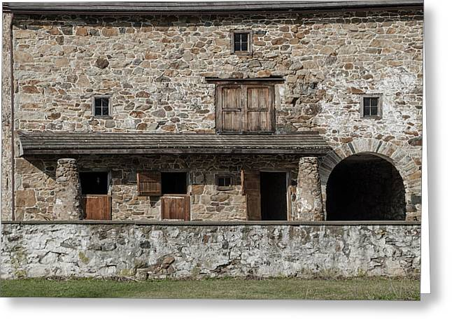 Old Stone Barn - Chester County Pennsylvania Greeting Card by Bill Cannon
