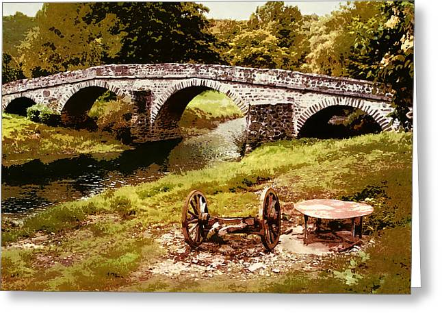 Old Stone Bridge In France Greeting Card
