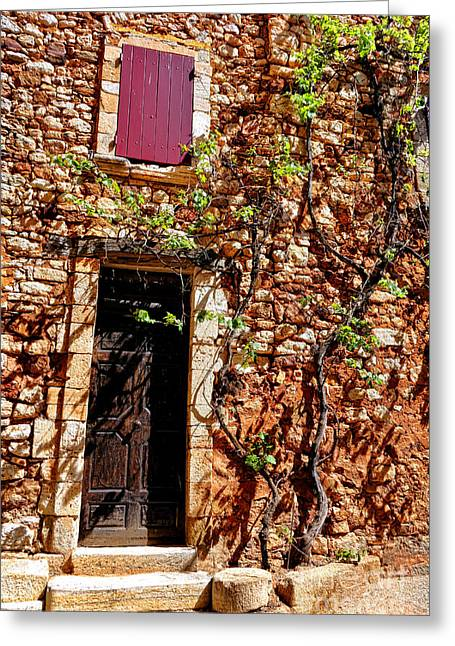 Old Stone House In Provence Greeting Card