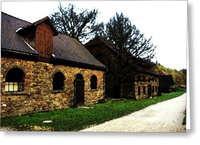 Old Stone House Greeting Card by Ralph Klein