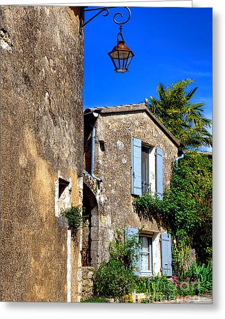 Old Stone Houses In Provence Greeting Card by Olivier Le Queinec
