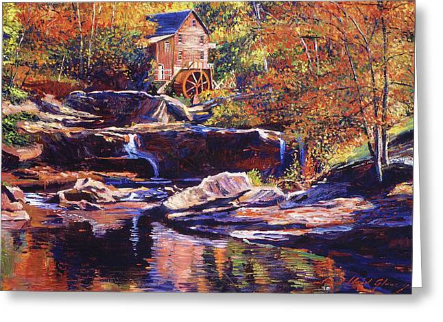 Old Stone Millhouse Greeting Card by David Lloyd Glover