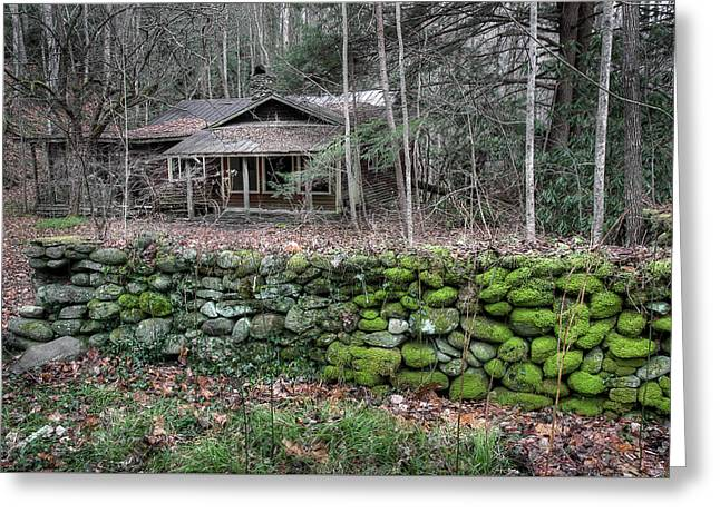 Old Stone Wall Greeting Card by Mike Eingle