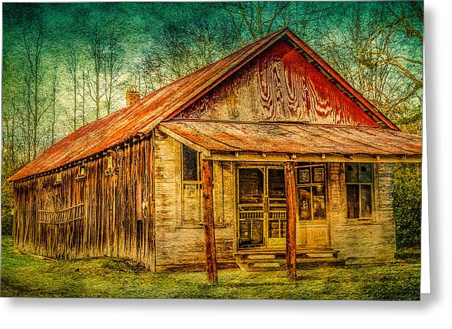 Old Store Greeting Card by Phillip Burrow