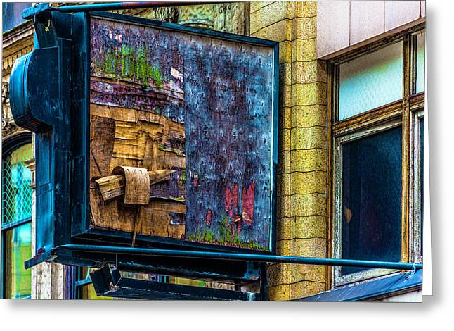 Old Store Sign Pittsburgh Pennsylvania V4 Dsc0917 Greeting Card by Raymond Kunst