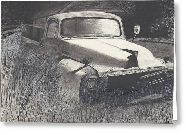 Old Studebaker Greeting Card