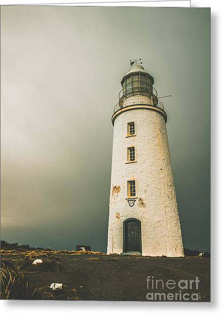 Old Style Australian Lighthouse Greeting Card by Jorgo Photography - Wall Art Gallery