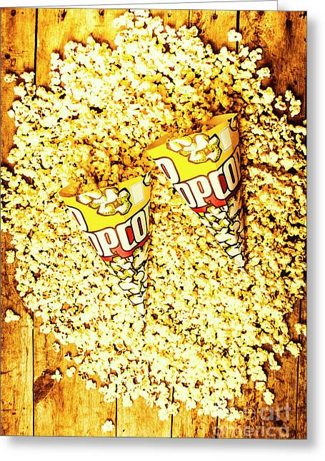 Old Style Popcorn Cones  Greeting Card