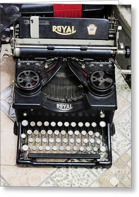 Old Style Royal Typewriter  Greeting Card