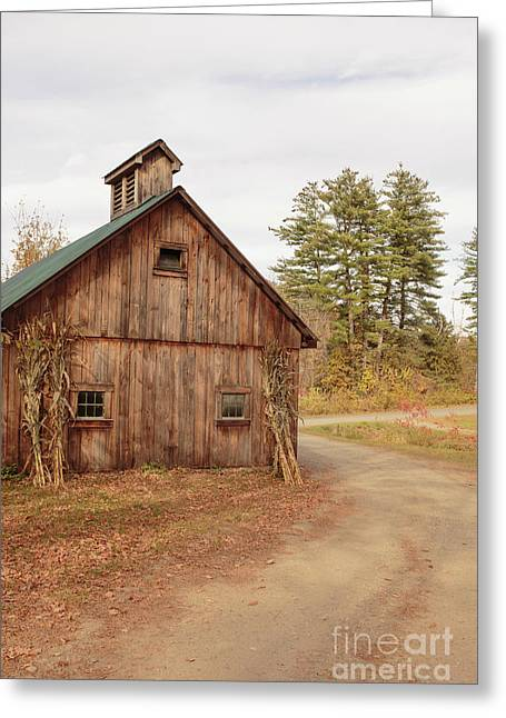 Old Sugar Shack Farm Plainfield New Hampshire Greeting Card