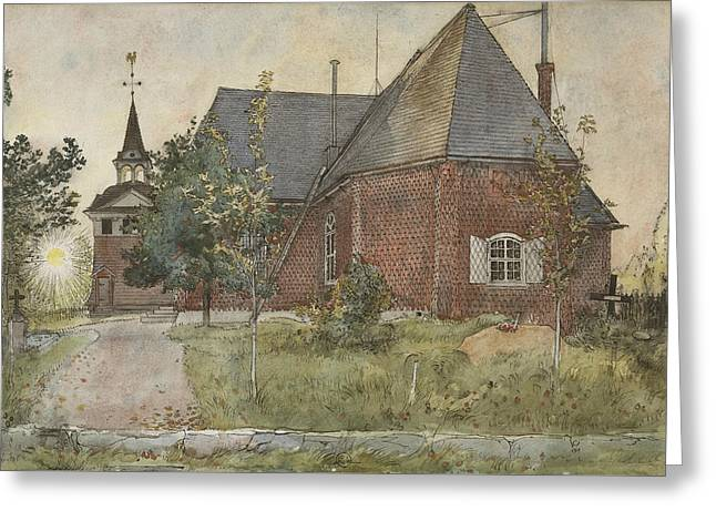 Old Sundborn Church. From A Home Greeting Card