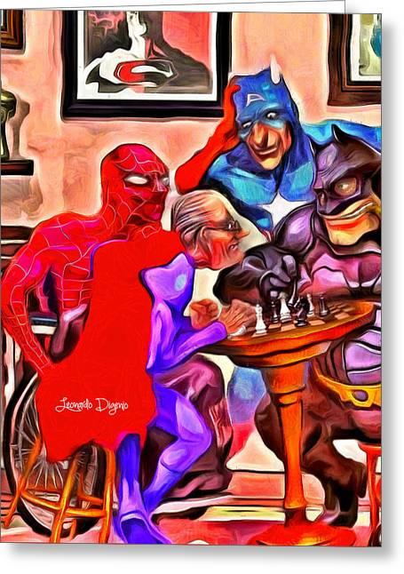 Old Super Heroes - Da Greeting Card