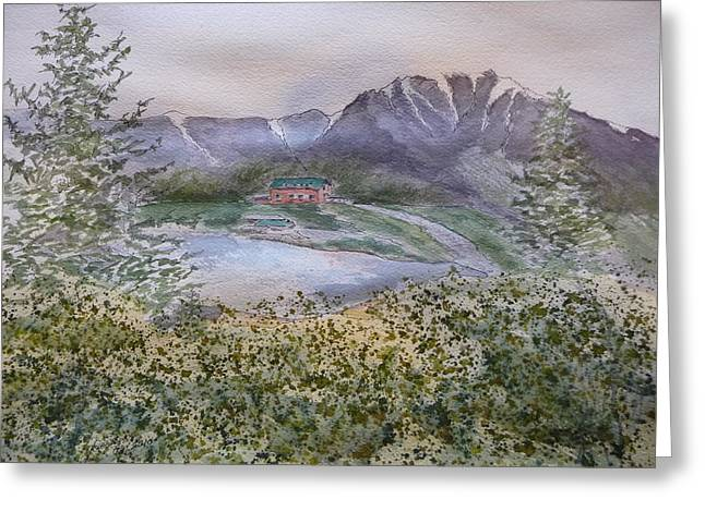 Old Susitna Lodge Greeting Card