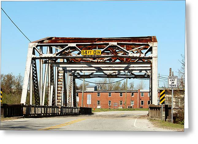 Old Swing Bridge Greeting Card