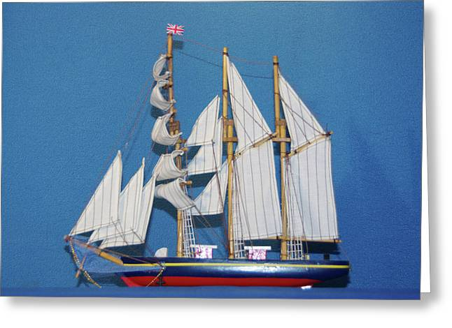 Old Tall Sail Ship Greeting Card by Hugh Kroetsch
